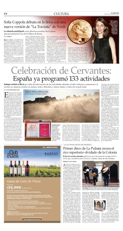 El Mercurio 9 Feb. 2016
